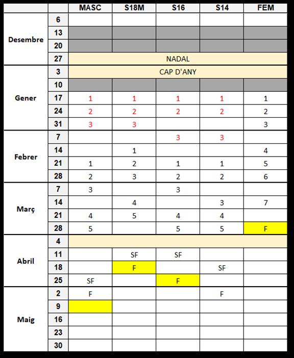 project calendari 2021