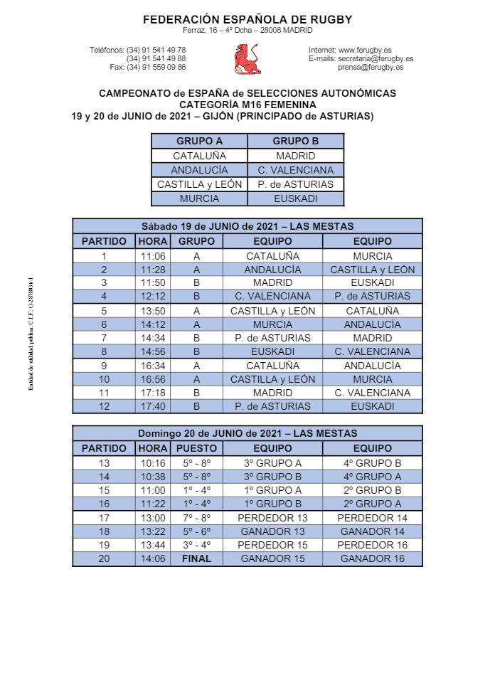 campionat femeni s16
